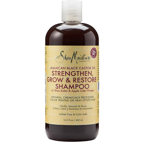SheaMoisture Jamaican Black Castor Oil Strengthen, Grow & Restore Shampoo, 16.3 fl oz