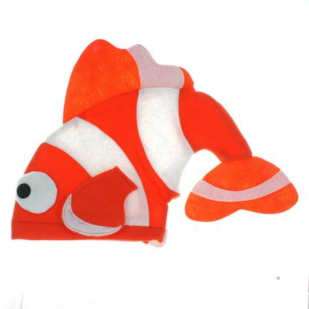 Felt Tropical Fish Clownfish Orange Nemo Plush Party Hat - Fish Hat