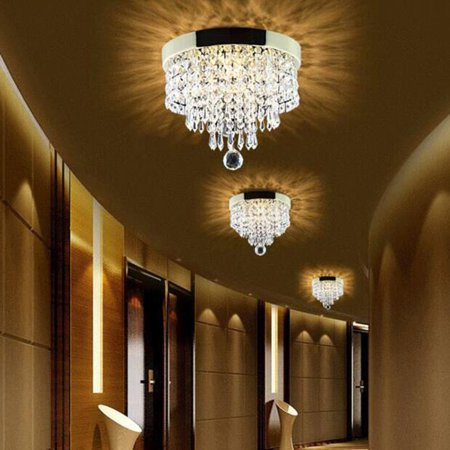 (Elegant Chandelier Crystal Drop Light Clear Ceiling Fixture For Living Room Fashionable Pendant Lamp Home Decoration)