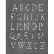 Secretly Designed Alphabet Textual Art Paper Print