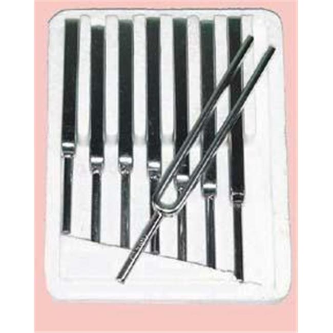 Olympia Sports 15927 Tuning Fork Set - Steel - Set of 8