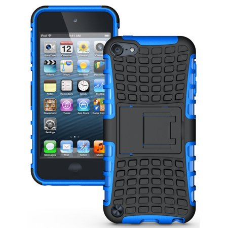 27 Ipod Color Matched - NAKEDCELLPHONE BLUE GRENADE RUGGED TPU SKIN HARD CASE COVER STAND FOR APPLE iPOD TOUCH 5 5th GENERATION (16GB 32GB 64GB)