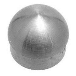 Domed End Cap - Brushed (Satin) Stainless Steel - 1.5