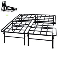 3000lbs Max Weight Capacity TATAGO 16 Inch Tall Heavy Duty Platform Bed Frame & 2 Set Headboard Bracket, Mattress Foundation, Non-Slip, No noise & No Box Spring Need for Saving Money, Full