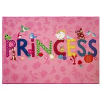 "Dinsey Princess Printed Polyester Rug, 4'6""x6'6"""