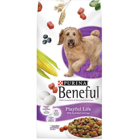 Purina Beneful Playful Life With Real Beef & Egg Dog Food 31 1 lb  Bag