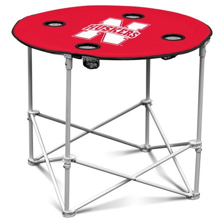 Logo Chair NCAA College Team Logo Portable Round Tailgating Table