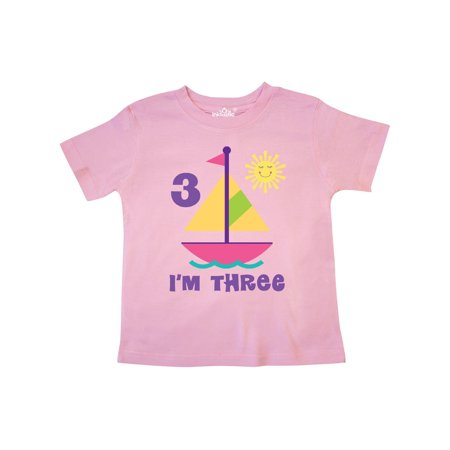 3rd Birthday Girls Sailing Toddler T-Shirt
