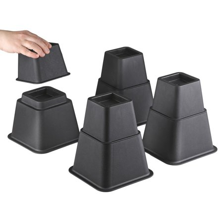 Bedtime Sleeper Bed Risers or Furniture Riser in Heights of 8, 5 or 3 Inches Heavy Duty Set of -