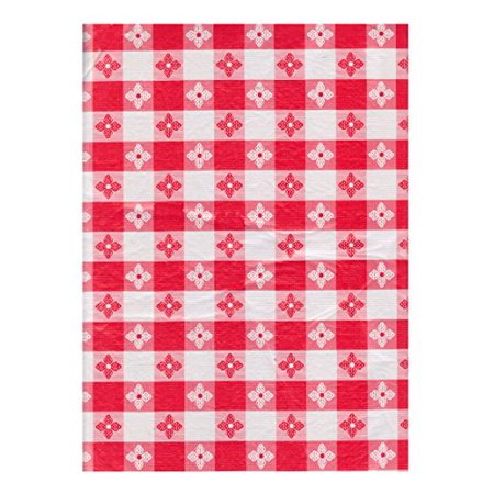 Textured Vinyl Tablecloth Picnic Check Design Flannelback