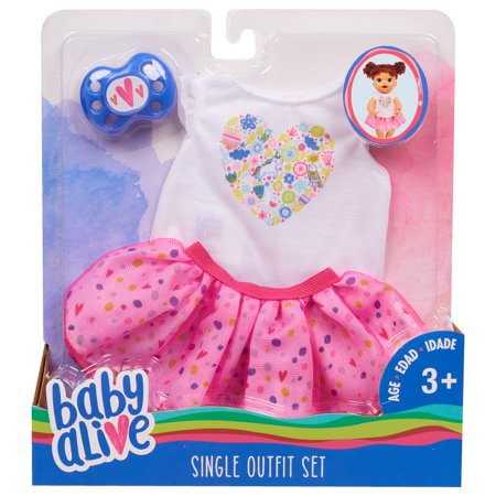 Baby Alive Fashions- Mix and Match Outfit (White Tee + Pink Tu Tu) (Alice Outfit)