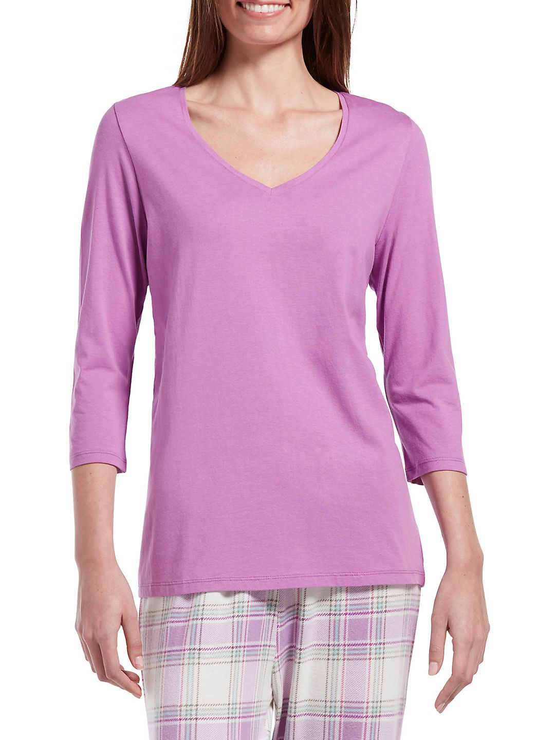 Three-Quarter Sleeve Pajama Top