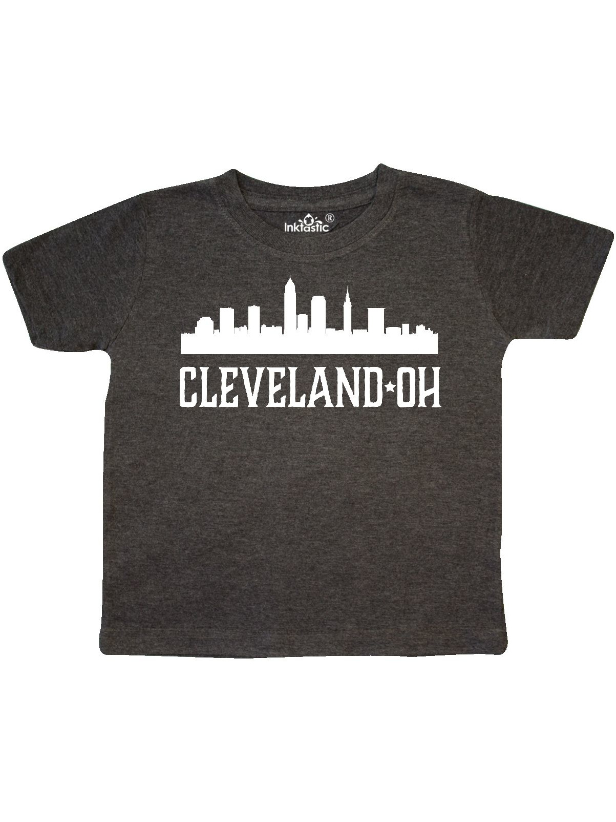 Inktastic Cleveland Ohio T-Shirt Red Sihlouette Home Gift For Her Him Mens Adult