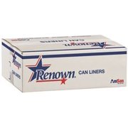 Renown Can Liner 43X47 56Gl 1.5 Mil Black 10/Rl 10Rl/Cs