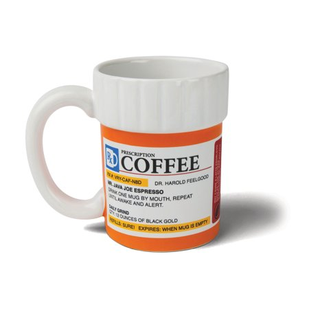 BigMouth Inc. The Prescription Pill Bottle Coffee Mug, Ceramic, Funny Gift for the Caffeine Lover (Pill Bottle Mug)
