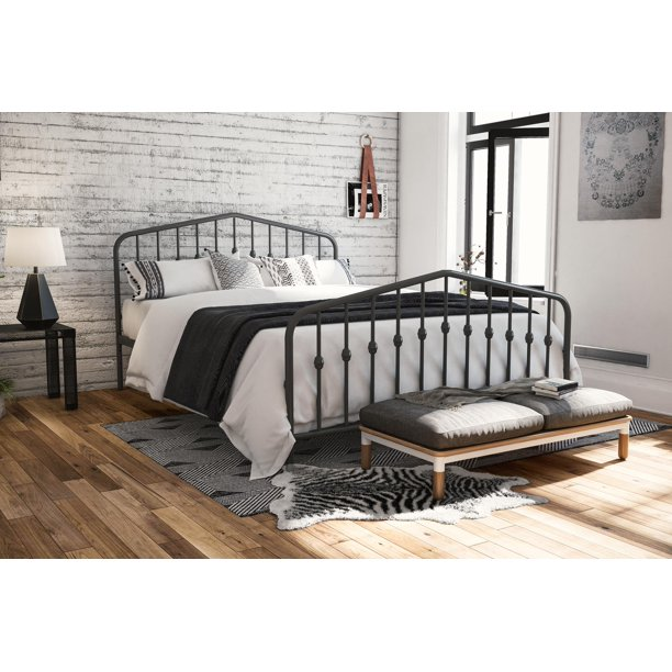 The Novogratz Modern Farmhouse Bushwick Metal Bed, Multiple Options Available