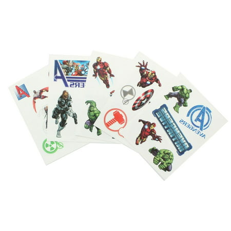 Marvel Avengers Pack of 25 Temporary Tattoos Temporary Tattoo Pack