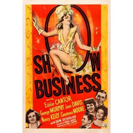 Show Business Us Poster Constance Moore George Murphy Joan Davis Eddie Cantor Nancy Kelly 1944 Movie Poster Masterprint (Eddie George Framed Photo)