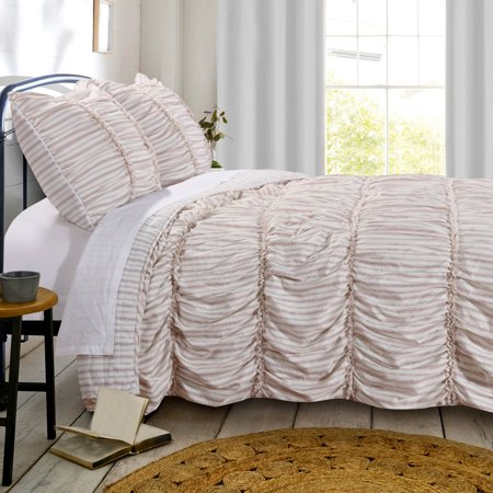Greenland Home Farmhouse Chic Comforter Set, Full/Queen, Red