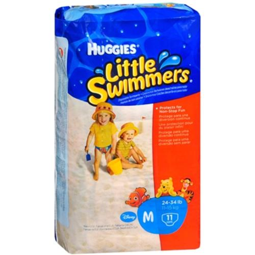 HUGGIES Little Swimmers Medium 24-34 LBS 11 Each [8 packs per case] (Pack of 3)