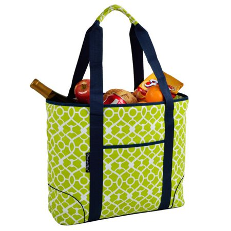 Picnic at Ascot 421-TG Trellis Green Extra Large Insulated Tote - Trellis - Ascot Green