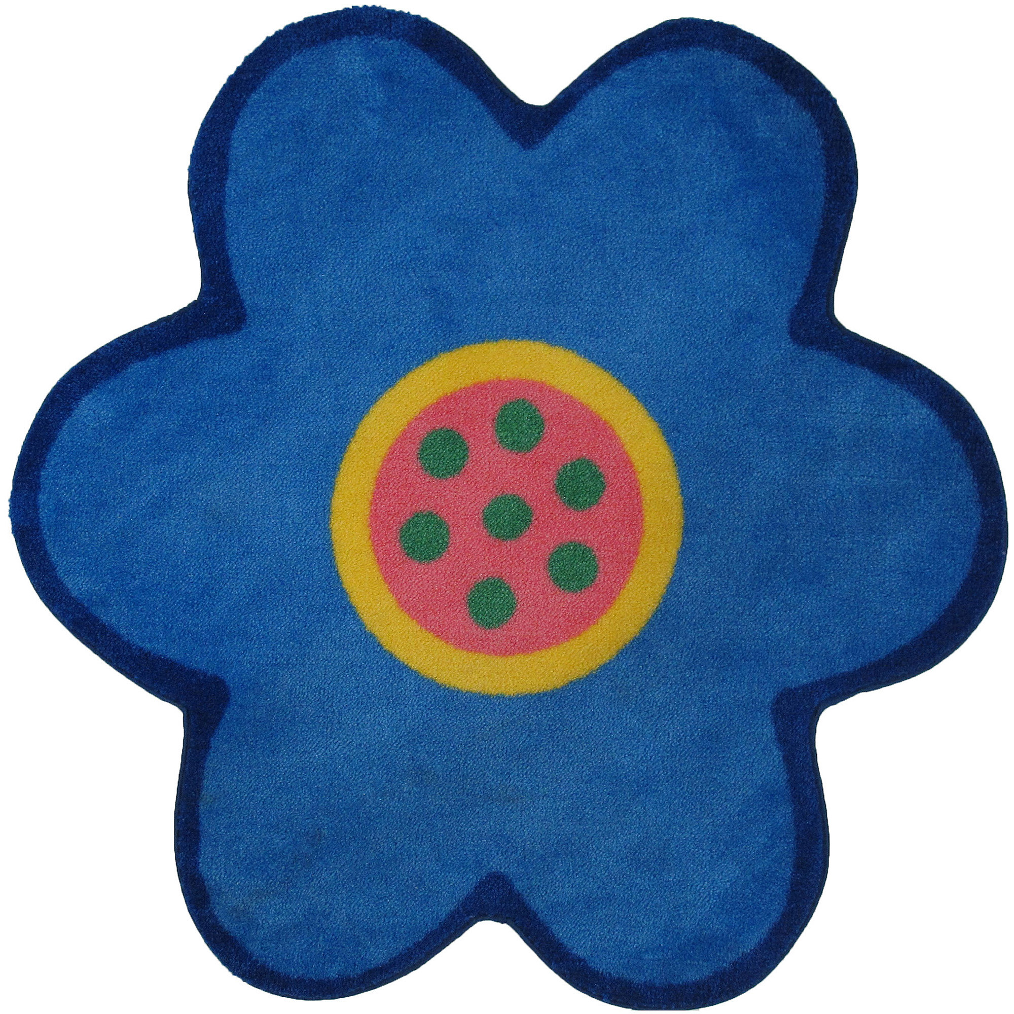 "Fun Rugs Poppy Light Blue 39"" x 39"" Rug"
