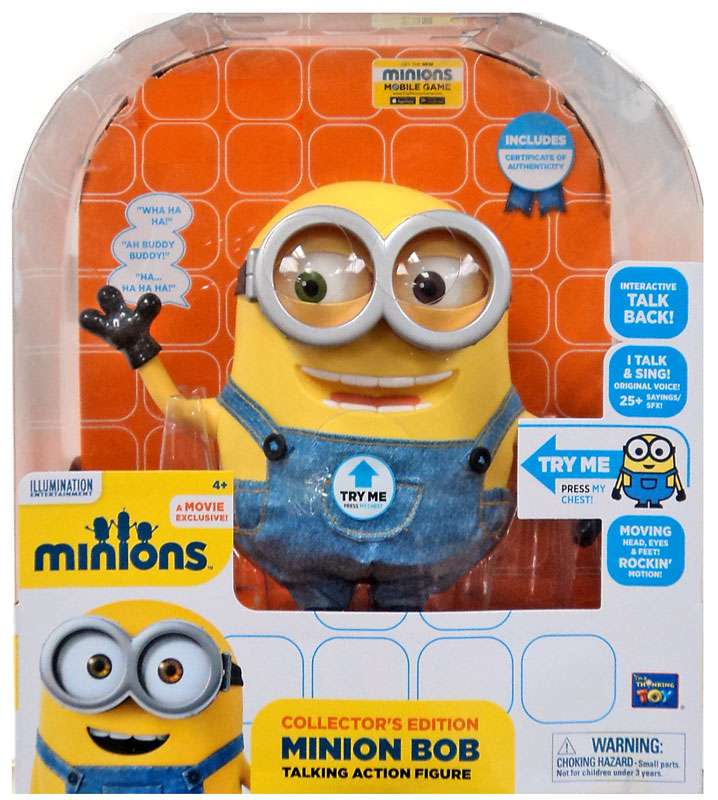 Despicable Me Minions Minion Bob Action Figure [Interactive Talking] by