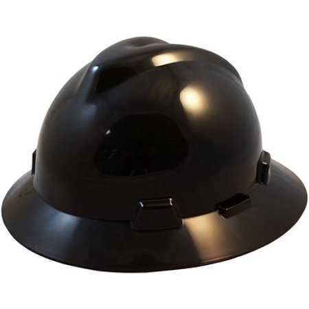 V-Gard Full Brim Hard Hats w  Old Style FasTrac II Suspension- Black ... 159e83d7854