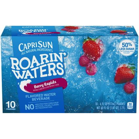 Capri Sun Roarin' Waters Juice Pouches, Berry, 6 Fl Oz, 10 Count - Halloween Capri Suns