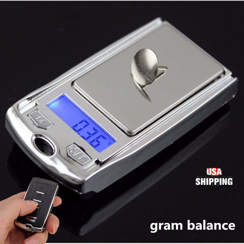 Mini Pocket LCD Digital Car Key Ultrathin Scale Pocket 100g 0.01g Light Weight
