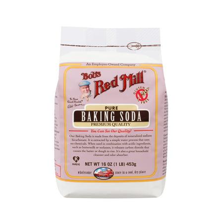 (2 Pack) Bob Red Mill Baking Soda, 16 oz