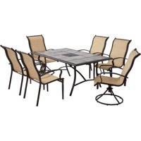 7-Piece Mainstays Wesley Creek Dining Set ,Tan Box 1 of 2