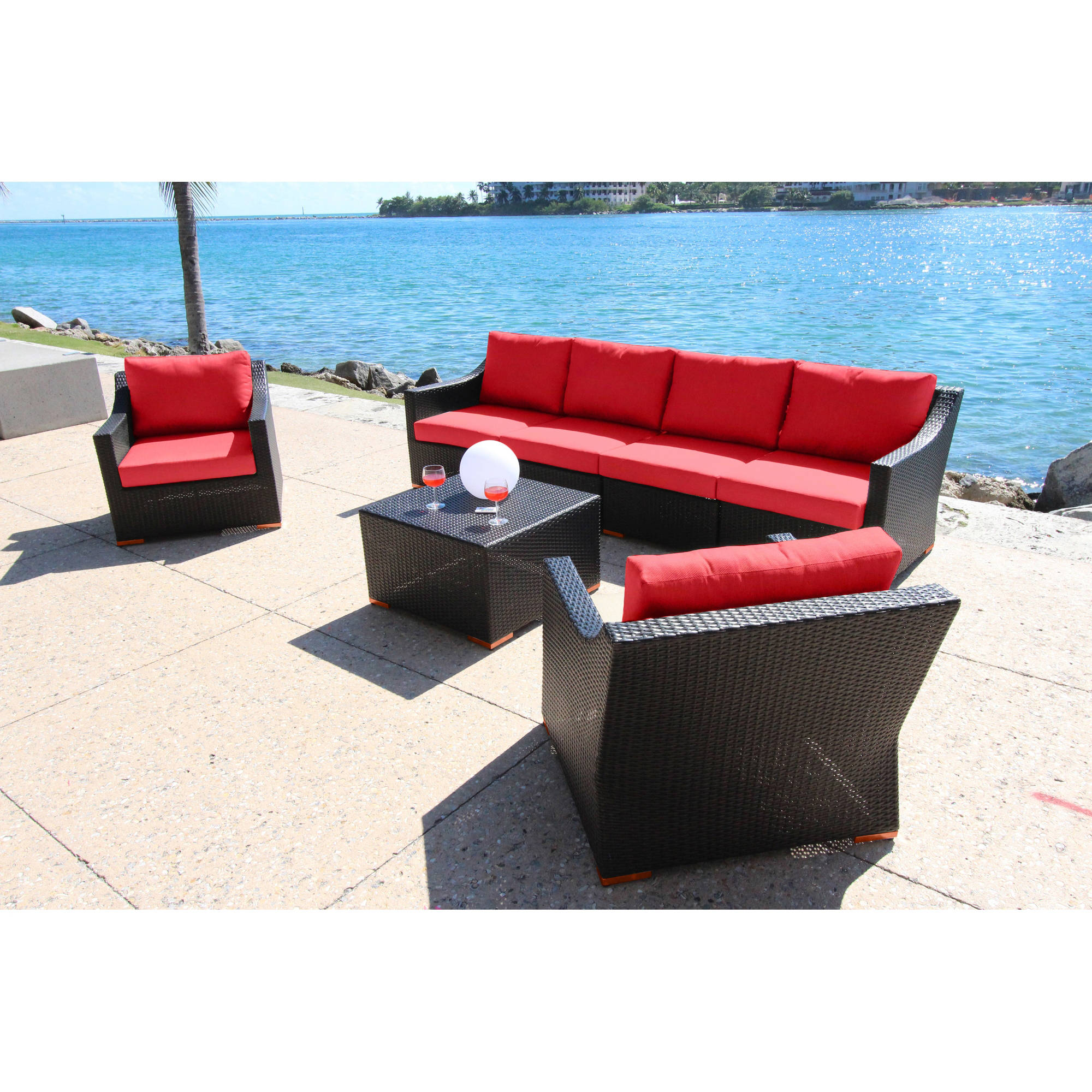 Bellini Home and Garden Cava 7-Piece Deep Seating Sofa Set