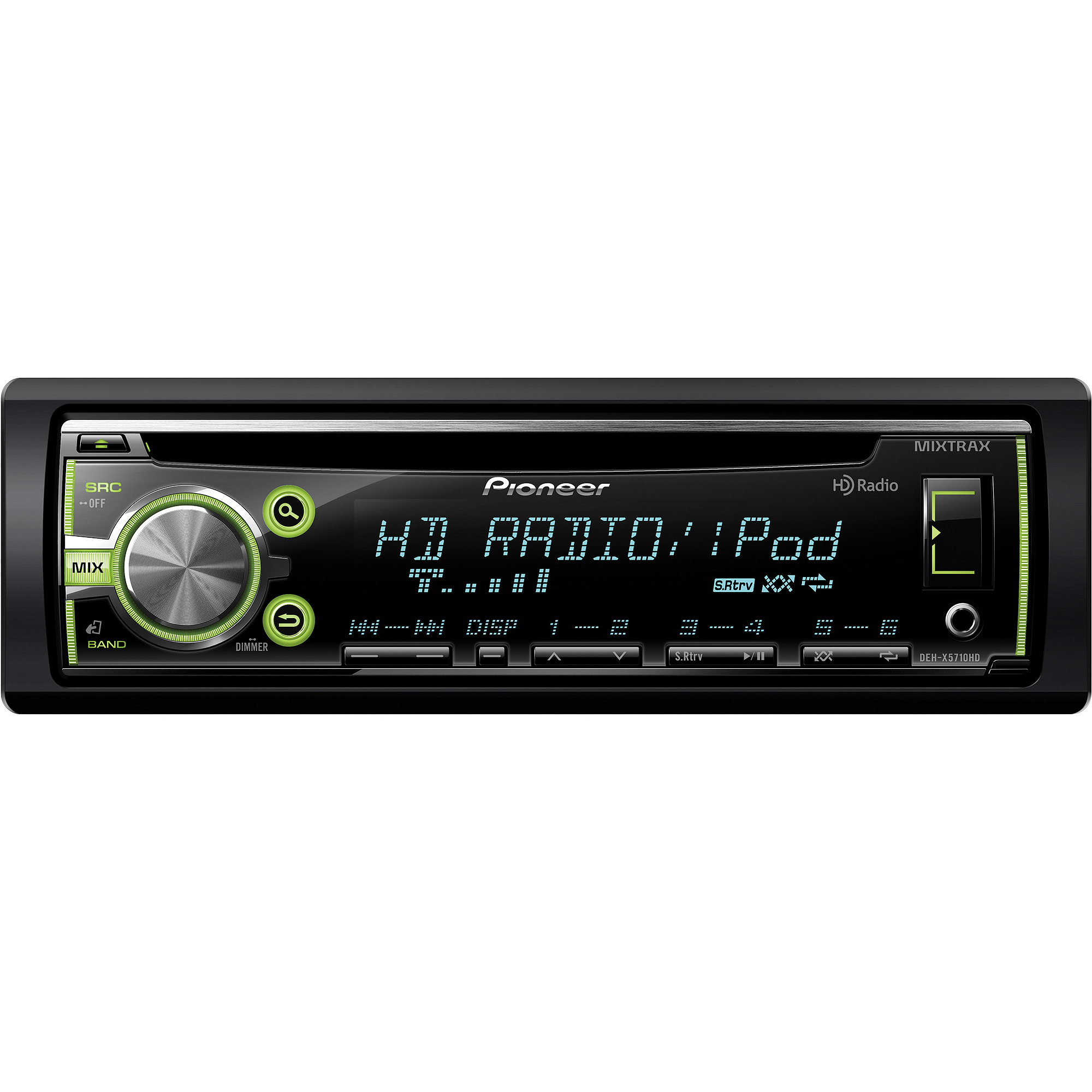 Pioneer DEH-X5710HD Single CD Receiver with Built-In HD Radio