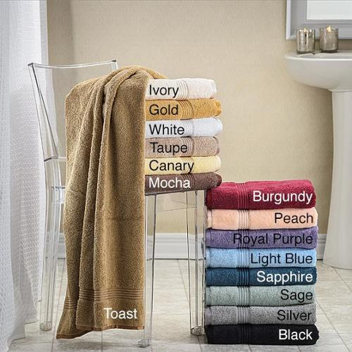 Superior Collection Luxurious Egyptian Cotton Bath Towels (Set of 4) Silver