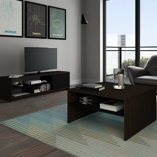 bestar small space 2 piece storage coffee table and tv stand set in rh walmart com TV Stand Living Room Ideas TV Wall Units for Living Room