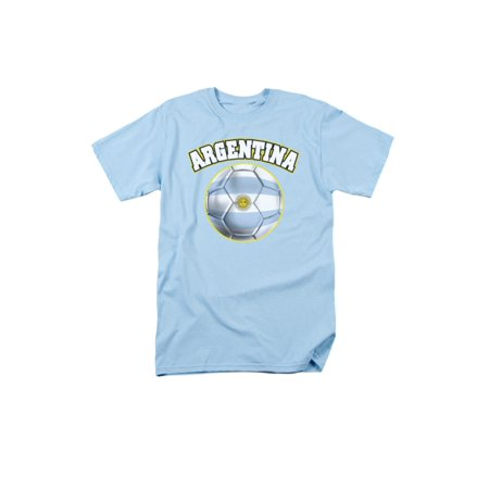 Argentina Flag T-shirt (Argentina Pride Soccer Ball Flag  Adult)