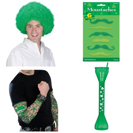 St. Patrick's Day Men's Dress Up and Drink Bundle - St Patrick's Day Dress