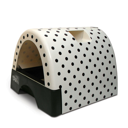 Tucker Murphy Pet Jayne Designer Cat Litter Box with Polka Dot Cover