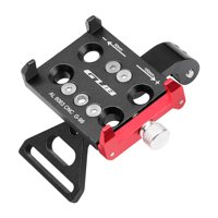 "GUB CNC Aluminum Bike Bicycle Universal Adjustable Cell Phone Holder Bike Stem Mount for 3.5-6.2"" Phone"