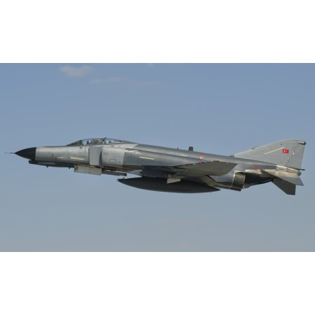 Turkish Air Force F-4 Phantom flying over Turkey Canvas Art - Giovanni CollaStocktrek Images (36 x 22)