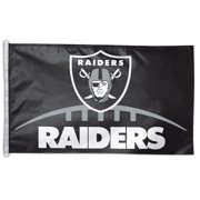 WinCraft Oakland Raiders 3' x 5' Single-Sided Horizontal Flag