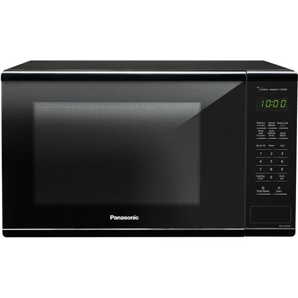 Panasonic 1.3 Cu. Ft. 1100W Microwave Oven Genius Sensor, Black