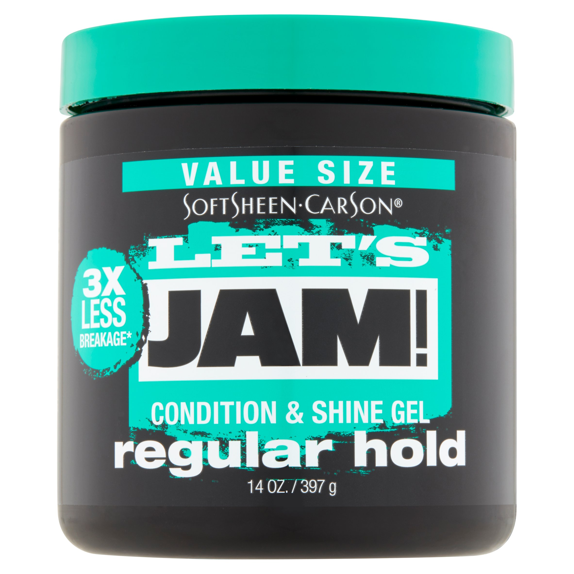SoftSheen-Carson Let's Jam! Shining and Conditioning Hair Gel, All Hair Types, Regular Hold, 9 oz