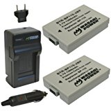Wasabi Power Battery (2_Pack) and Charger for Canon BP_11...