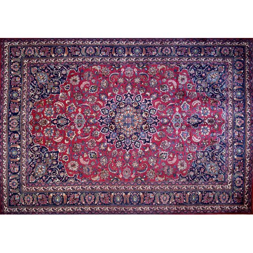 Isabelline One-of-a-Kind Pitchford Hand-Knotted 12' x 8'5'' Red/Purple Area Rug