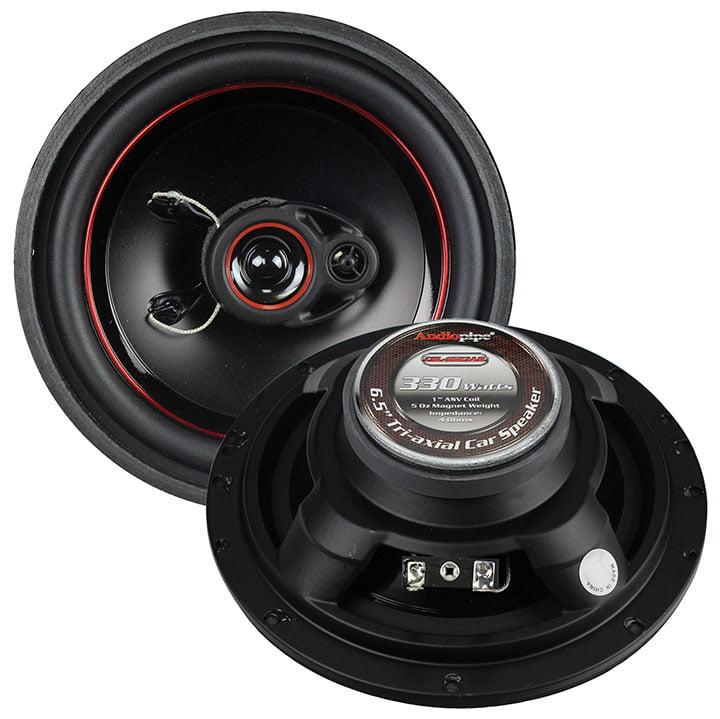 """Audiopipe Redline 6.5"""" 3 way 5 oz magnet car speaker slim style(pair)"""