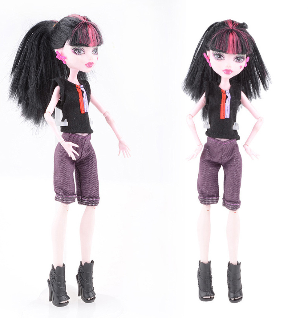 Mosunx Cool Fashion Handmade Short Sleeve Set Clothes Gown For Monster High Doll