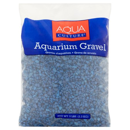 Aqua culture dark blue chips aquarium gravel 5 lbs for Walmart fish gravel