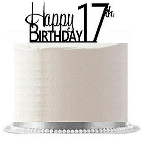 Item#AE-120 Happy 17th Birthday Agemilestone Elegant Cake - Elegant Birthday Cakes